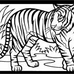 Printable Tiger Coloring Page Image