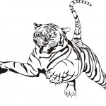 Printable Tiger Coloring Page Photo