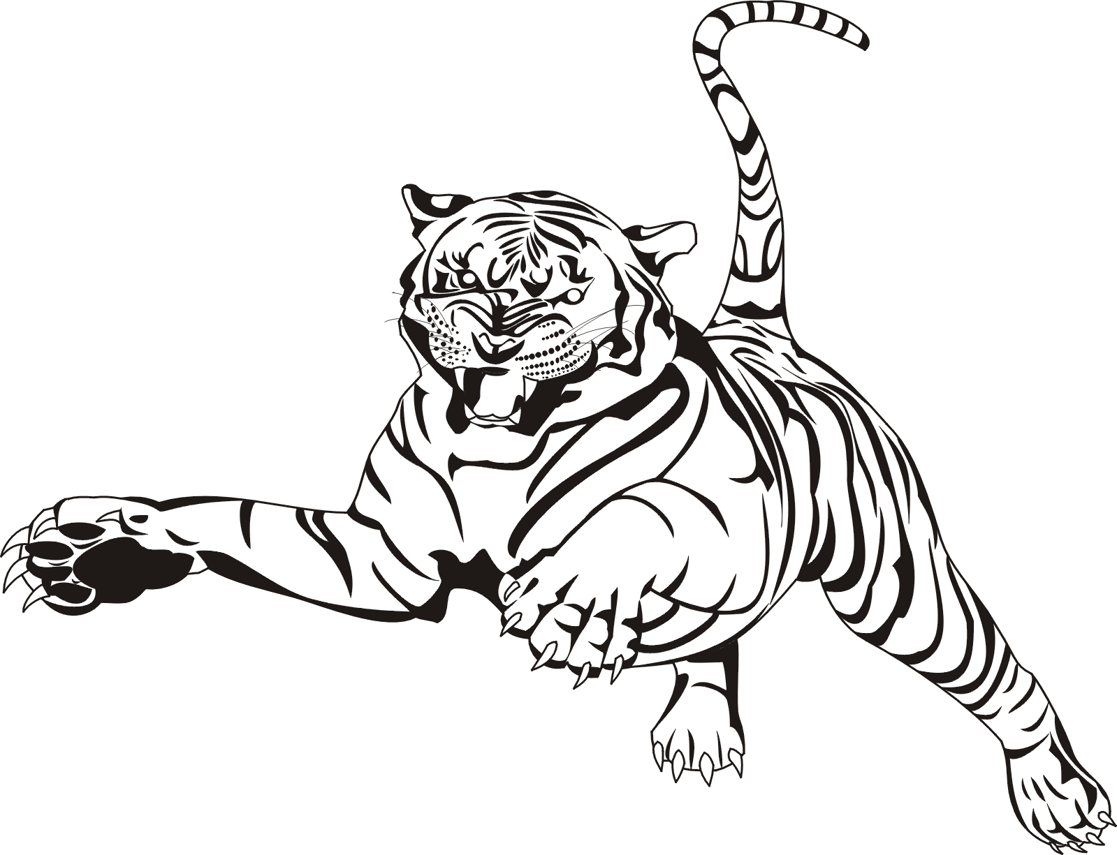 Free Printable Tiger Coloring Pages For Kids Animal Place