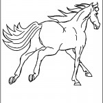Picture of Running Horse Coloring Pages