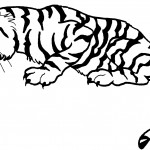 Tiger Coloring Page for Kids
