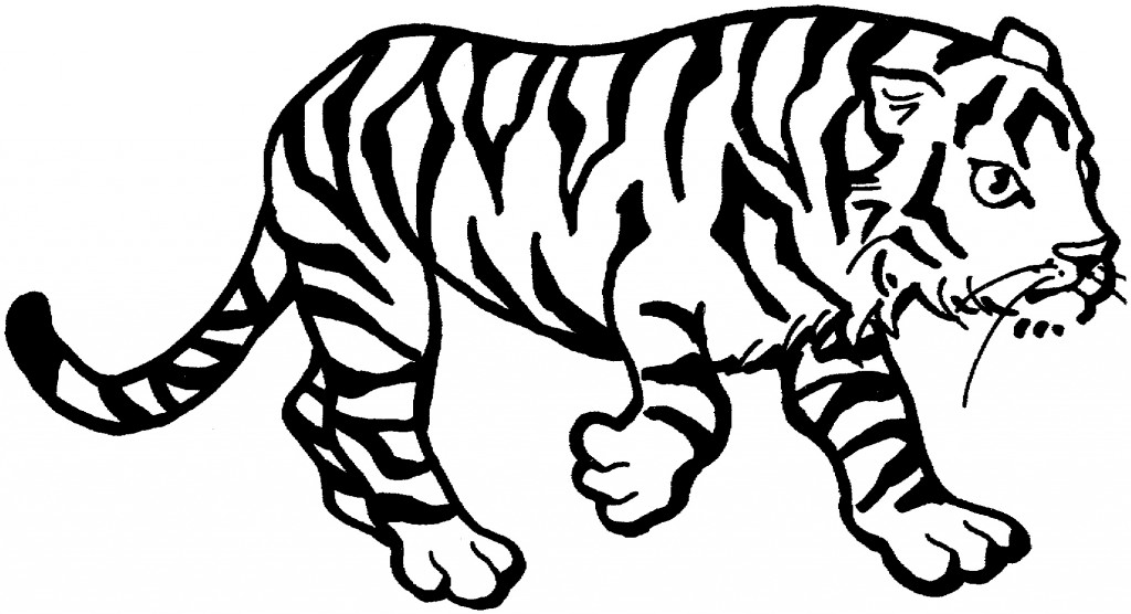 Tiger Coloring Page for Kids Photo - Animal Place