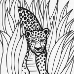 Tiger Coloring Page for Kids Picture