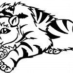 Tiger Coloring Page for Kids Pictures