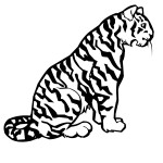 Tiger Coloring Pages for Kids Image