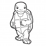 Turtle Coloring Page Photo