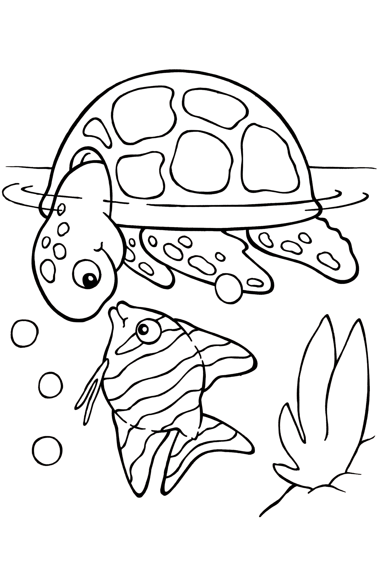 Free printable turtle coloring pages for kids animal place for Coloring book pages for toddlers