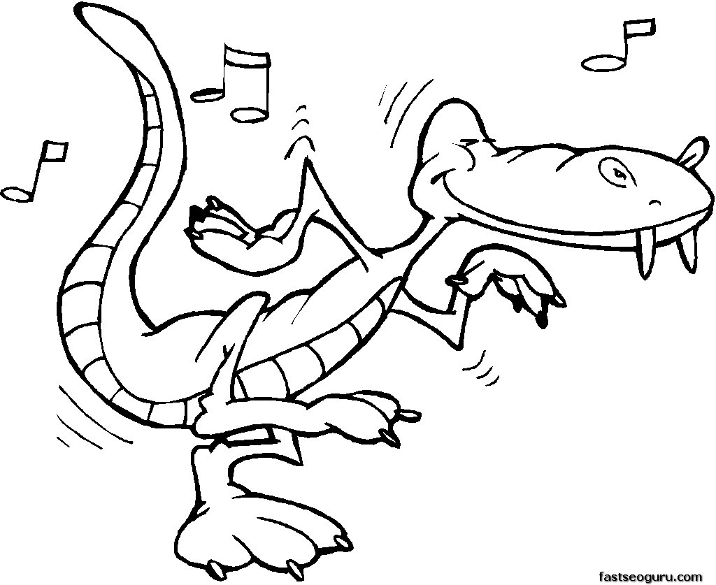free printable alligator coloring pages for kids - Coloring Games For Toddlers Online Free