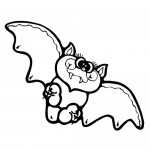 Baby Bat Coloring Page