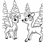 Baby Deer Coloring Page Images