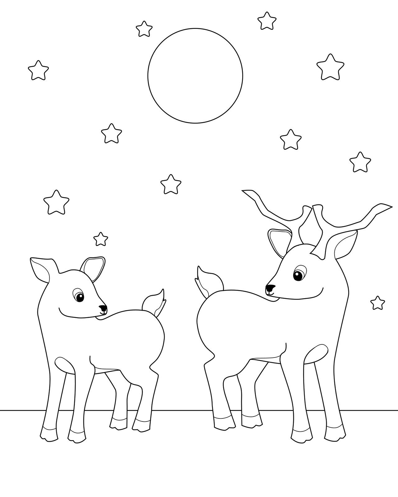 Coloring pages deer - Baby Deer Coloring Page Free Printable Deer Coloring Pages For Kids Animal Place On Coloring Pictures