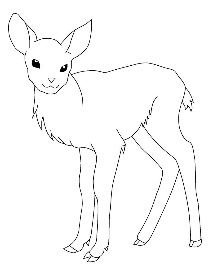 Free coloring page deer - Baby Deer Coloring Pages Picture Free Printable Deer Coloring Pages For Kids Animal Place On Deer