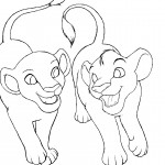 Baby Lion Coloring Page Picture