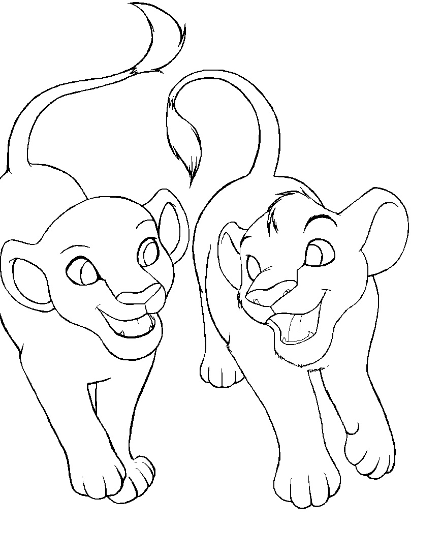 Free printable lion coloring pages for kids animal place for Baby lion coloring pages
