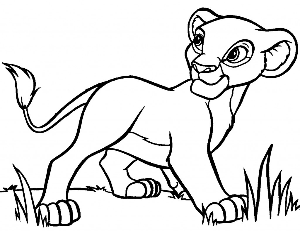 Baby Lion Coloring Pages - Animal Place