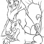 Baby and Mother Lion Coloring Pages
