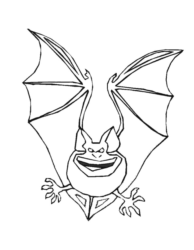free printable bat coloring pages for kids | animal place - Cute Halloween Bat Coloring Pages