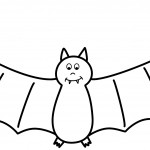 Bat Coloring Page Picture
