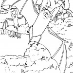 Bat Coloring Page for Kids
