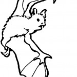 Bat Coloring Page for Kids Images