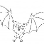 Bat Coloring Page for Kids Photos
