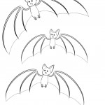 Bat Coloring Page for Kids Pictures