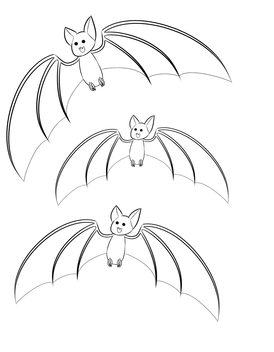 Free printable bat coloring pages for kids animal place for Bat coloring page