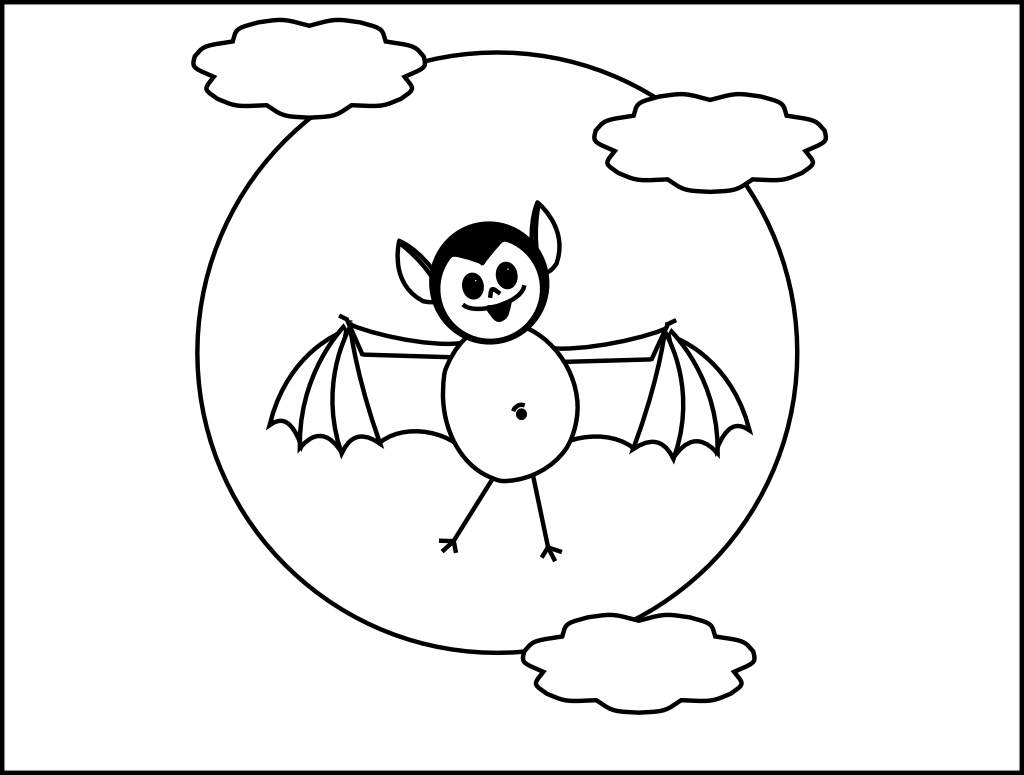 free printable halloween coloring pages bats page 2