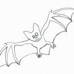 Bat Coloring Pages for Kids Image