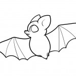 Bat Coloring Pages for Kids Photo