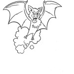 Bat Coloring Pages for Kids Photos