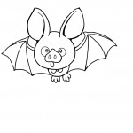 Bat Coloring Pages for Kids Pictures