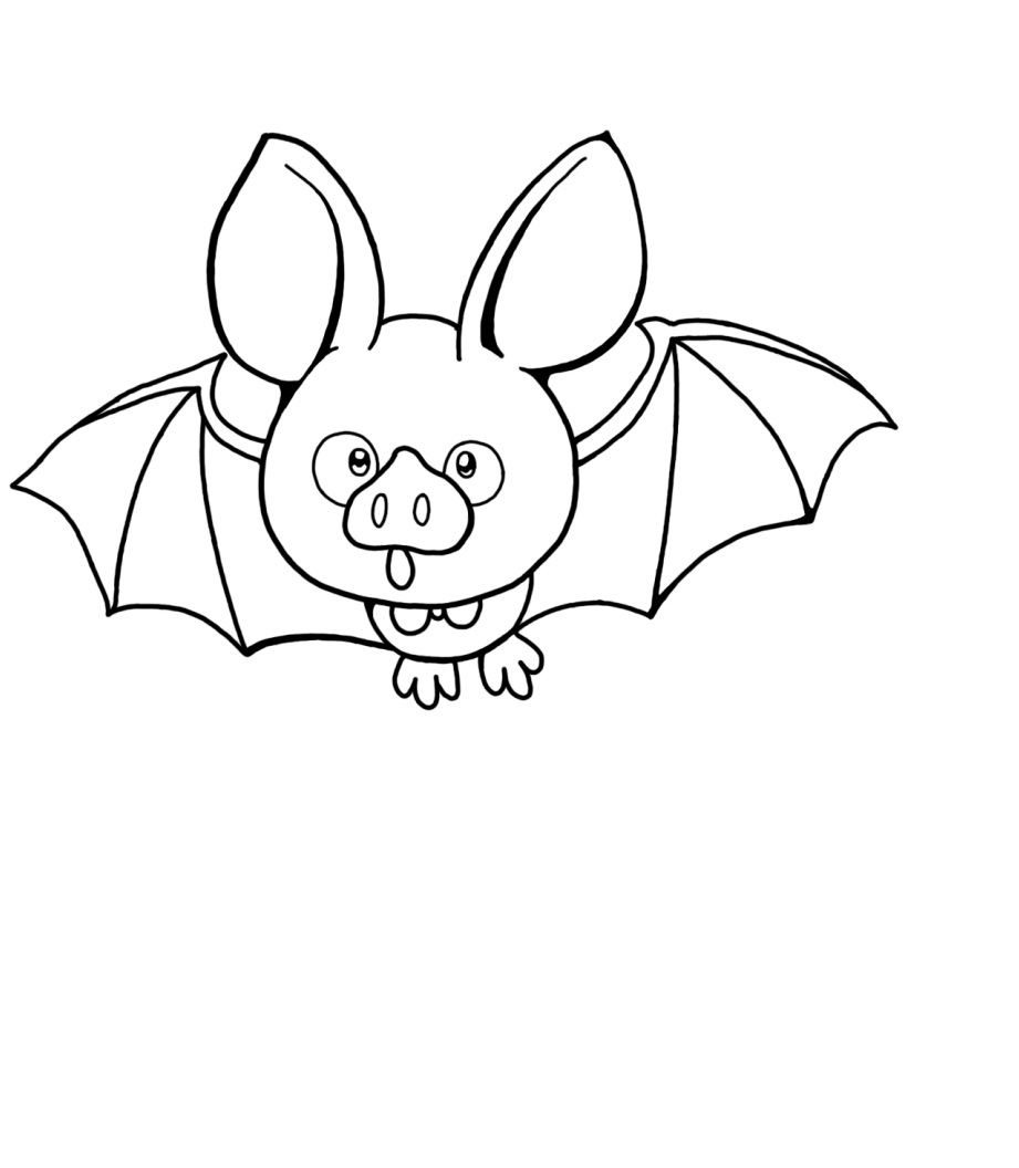 bat color page - free printable bat coloring pages for kids animal place