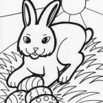 Bunny Rabbit Coloring Page
