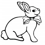 Bunny Rabbit Coloring Pages Images