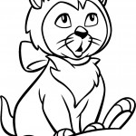 Cat Coloring Page Image