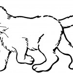 Cat Coloring Page for Kids Image