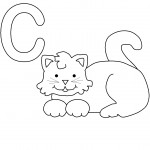 Cat Coloring Page for Kids Photo
