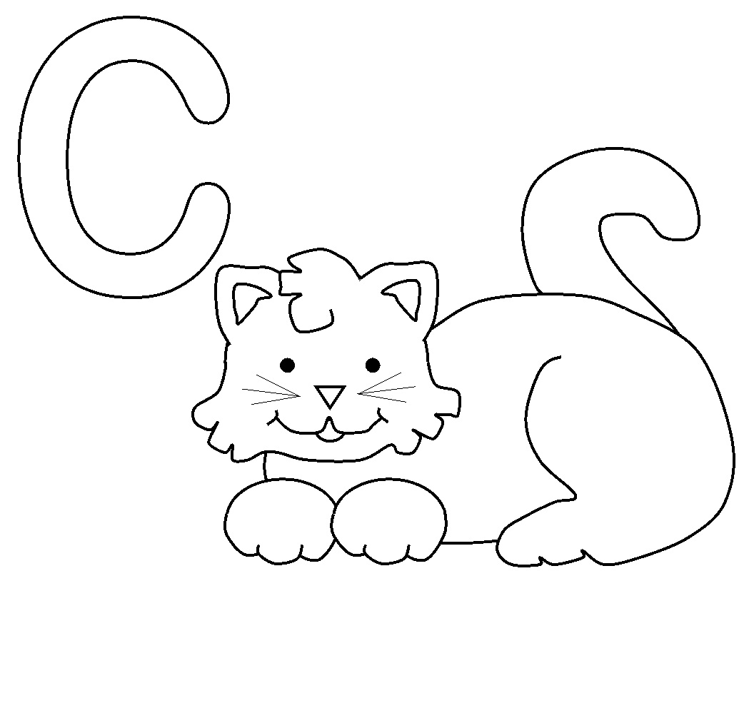 Free printable cat coloring pages for kids animal place for Cat coloring pages for toddlers