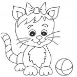 Cat Coloring Pages for Kids Photo