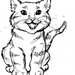 Cat Coloring Pages for Kids Pictures