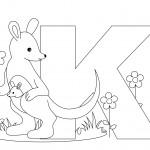 Coloring Page Kangaroo Images