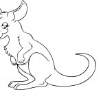 Coloring Page Kangaroo Pictures