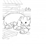 Coloring Page Pigs Picture