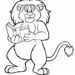 Coloring Page of Lion
