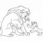 Coloring Page of Lion Image