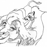 Coloring Page of Lion Photo