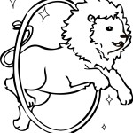 Coloring Page of Lion Photos