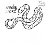 Coloring Page of Snake Photo