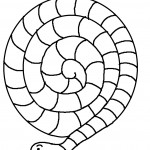 Coloring Page of Snake Picture